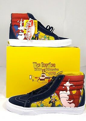89b617162a The Beatles yellow submarine vans Sk8-HI Reissue.UK SIZE 7.5