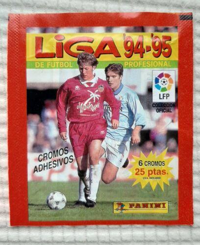 packet panini la liga 1994 1995 94 95 unopened pochette bustina tüte sobre world