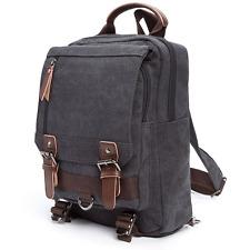Sling Canvas Cross Body Messenger Bag Shoulder Backpack with Zipper Shoulder