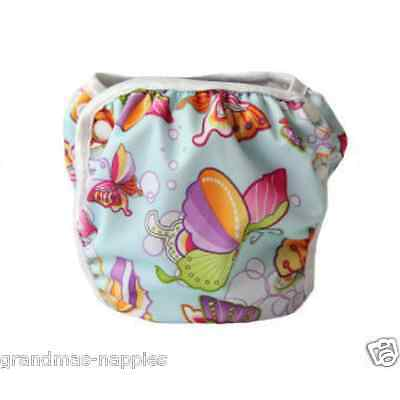 Swim Nappy Baby Cover Reusable Multifit Diaper Pants Nappy Swimmers Butterfly