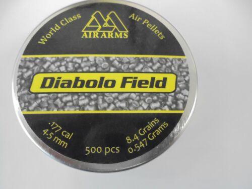 AIR ARMS Diabolo Champ airifle Pellets 4.5 mm//.177 cal 4.52 x Tin de 500