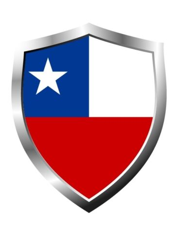 Chile country shield flag sticker vinyl decal