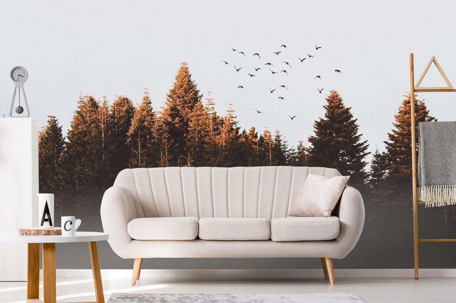 3D Forest Bird 7090 Wall Paper Murals Wall Print Wall Wallpaper Mural AU Summer