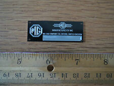 MG Metal Display Plaque Model Diecast 1/18 1/24 1/87 MGA MGC MGB Midget TC 1/43