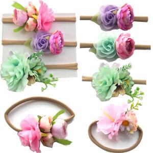 3-Kinder-Baby-Kopfschmuck-Bunte-Fotografie-Requisiten-Blumen-Kleinkind-Stirnband