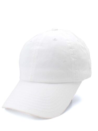 Polo Style Washed Plain 100/% Cotton Adjustable Baseball Caps Solid Curved Hats