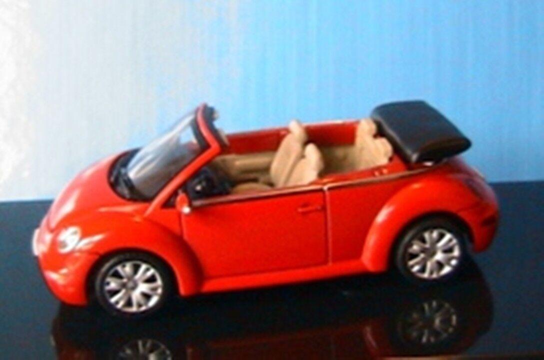 VW VOLKSWAGEN NEW BEETLE CABRIOLET 2003 ROUGE rouge AUTOART 1 43 rouge rouge