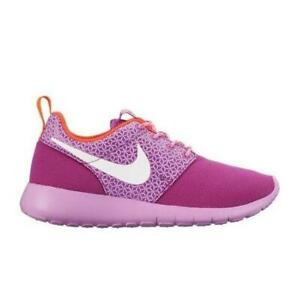 best service c9e62 5df97 Image is loading Girls-Juniors-NIKE-ROSHE-ONE-GS-Purple-Textile-