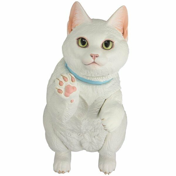 Kaiyodo MUNCHKIN Cat White White White 6.22in Sofubi Toy Box negora soft vinyl figure Japan 6d5c07