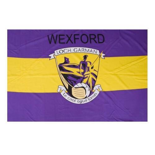 Wexford GAA Official 5 x 3 FT Flag Crested Irish Gaelic Football Hurling