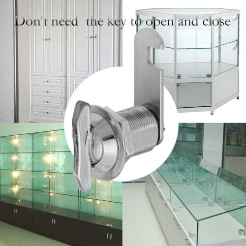 Zinc Alloy Keyless Cam Lock Mailbox Display Cabinet Toolbox Hand Screw Lock