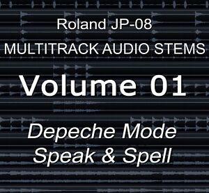 Details about Roland JP-08 Multitrack Audio Stems Vol 1 Depeche Mode -  Speak & Spell