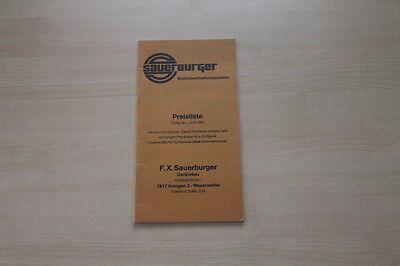 163424 Prospekt 06/1982 üBereinstimmung In Farbe Preise & Extras Sauerburger