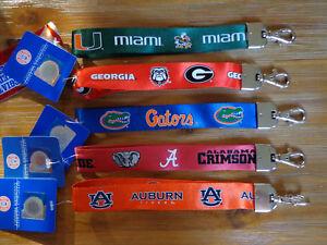 NCAA Auburn Tigers Carabiner Lanyard Keychain Team Color
