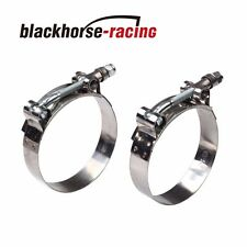 """2PC For 1'' Hose (1.26""""-1.46"""") 301 Stainless Steel T Bolt Clamps 32mm-37mm"""