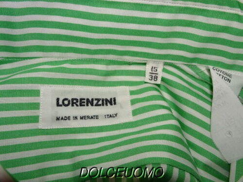 Groene Tailoring Shirt Italië Bespoke Lorenzini 35 Jurk Nieuw450 Heren 15 strepen kN8wOPXn0