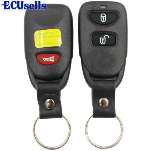 2X 315MHz Keyless Entry Remote Key Fob 2Button+Panic For Hyundai Santa Fe Tucson