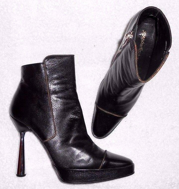KARL LAGERFELD bottines zippées cuir (chevreau) black P 39 (8 B) TBE