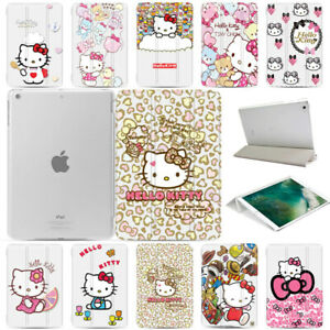 Hello-Kitty-Slim-Magnetic-PU-Leather-Smart-Stand-Cover-Hard-Case-For-Apple-iPad