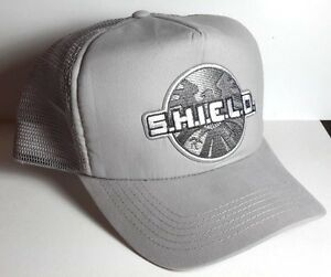 Grey Agents of SHIELD Logo Patch on GREY Baseball/Trucker Cap/Hat- FREE S&H