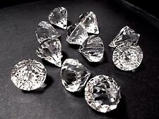 10pcs 25mm x 20mm Top Drilled Faceted Diamond Teardrop Acrylic Drops Beads CLEAR