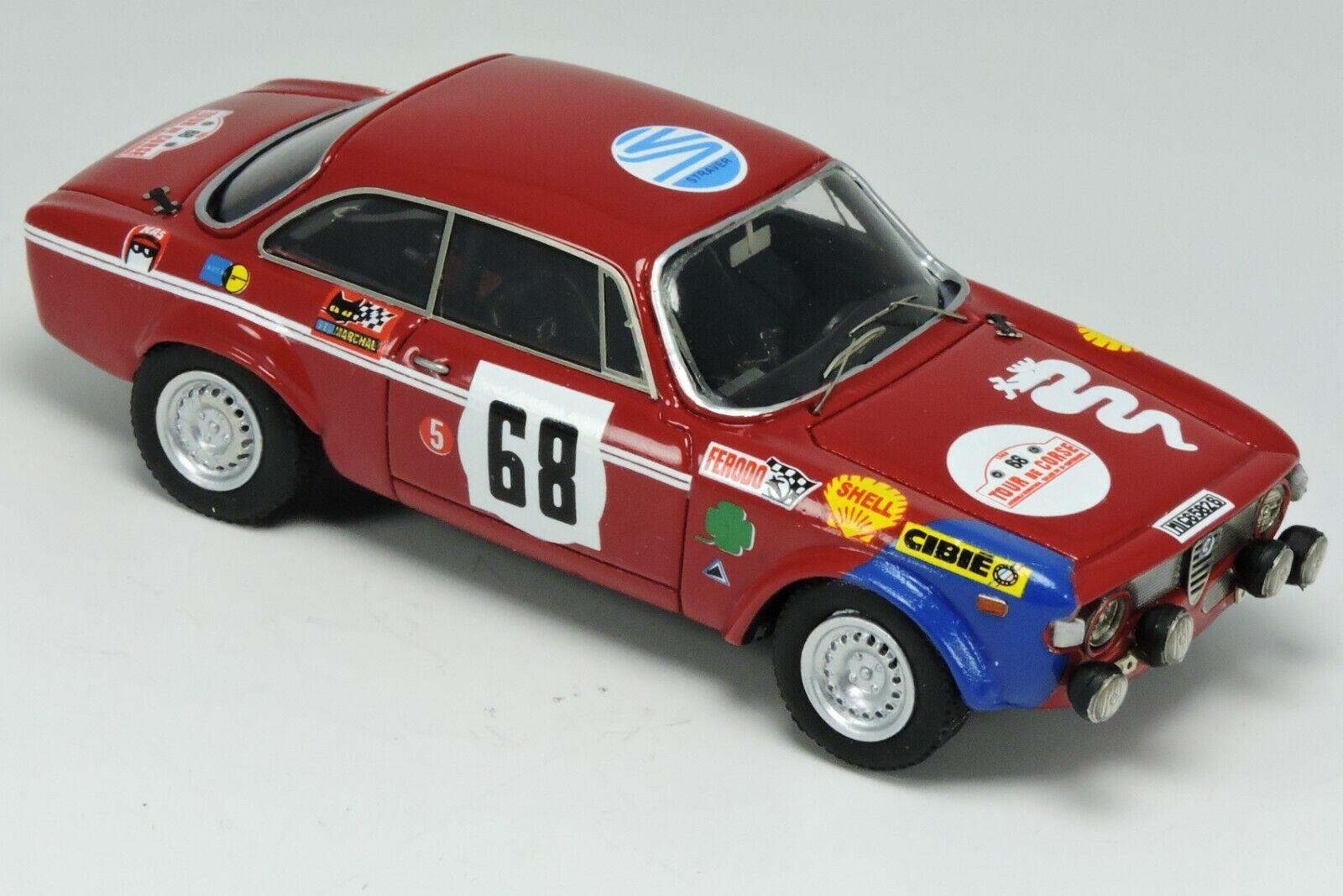 Kit Alfa Romeo Giulia Gtaj proto  68 Tour de Corse 1969 - Arena Modells kit 1 43