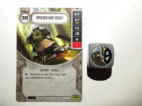 Rare Speeder Bike Scout #018 die Destiny Awakenings Star Wars