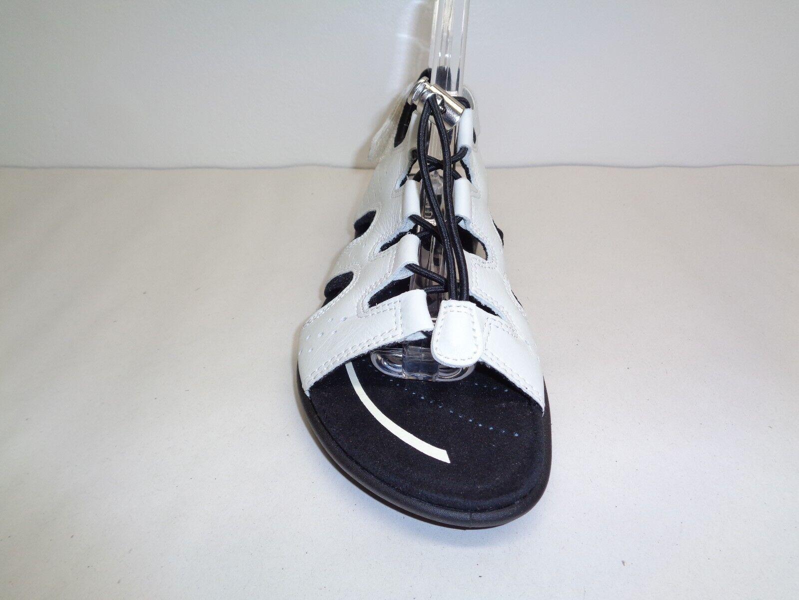 Ecco Size 5 to 5.5 Eur 36 blueMA blueMA blueMA TOGGLE White Leather Sandals New Womens shoes c6fde8
