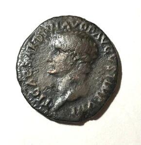 Ancient-Roman-Empire-Divus-Tiberius-AE-As-struck-by-Titus-80-81-AD
