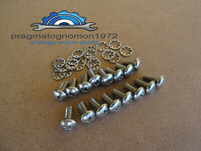 VOLVO PV 544 TAIL LIGHTS STAINLESS STEEL MIRROR FINISH SCREW KIT