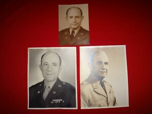 3 Vintage Photos Of An Unidentified US Army Brigadier General of Signal Corps