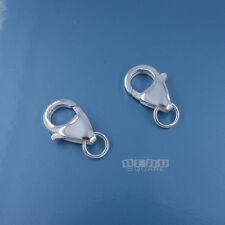 2PC Large Sterling Silver 14mm Lobster Claw Clasp Connector Soldered Ring #33289
