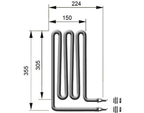 EOS Sauna Heizelement Heizstab 1500 Watt Heizspirale