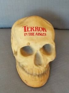 TERROR-IN-THE-AISLES-Promotional-Skull-Donald-Pleasence-Horror-Promo-Tie-In-Rare