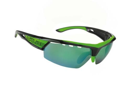 Occhiali SALICE Mod.005 RW BICOLORE NERO-VERDE Lens Rainbow Verde//Glasses Salice