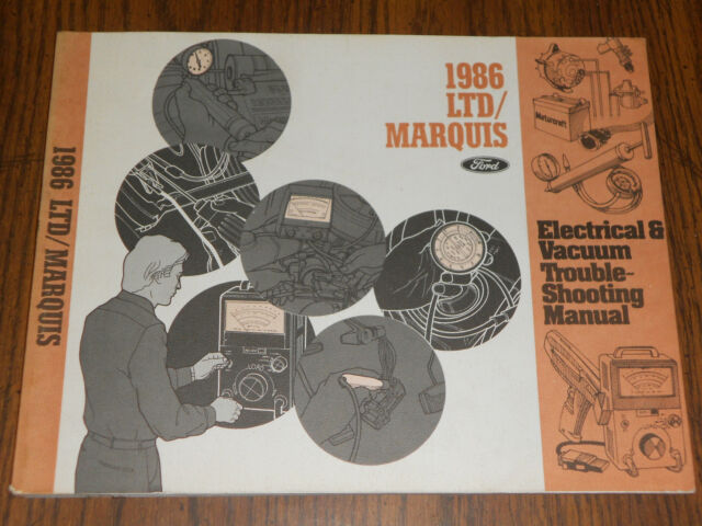 1986 Ford Ltd    Mercury Marquis    Wiring  U0026 Vacuum Diagram Shop Manual