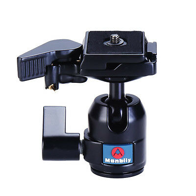 Manbily M-10 Professional Tripod Ball Heads W Fast Mounting Plate for Camera
