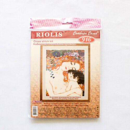 "Counted Cross Stitch Kit RIOLIS 916 /""Motherly Love after G Klimt`s Painting/"""
