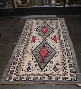 Image Is Loading Large Antique Navajo Rug Crystal Trading Post Waterbug