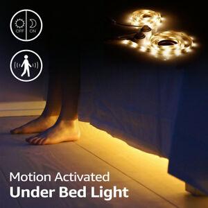 Kids-Under-Bed-LED-Bedroom-Bed-Motion-Sensor-Ambient-night-light-strip-tape-Kit