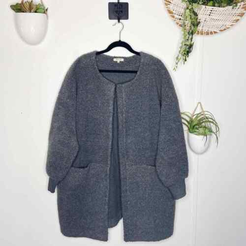 Madewell Size XL Gray Bonded Sherpa Cocoon Coat