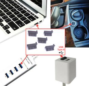 5x USB-Typ-A Staub Schutz Staubverschluss Stöpsel Kappe Silikon Für PC Ladegerät