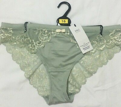 BNWT LADIES M/&S BRAZILIAN KNICKERS 2 SETS OF 2 SIZE 28 TEAL MIX