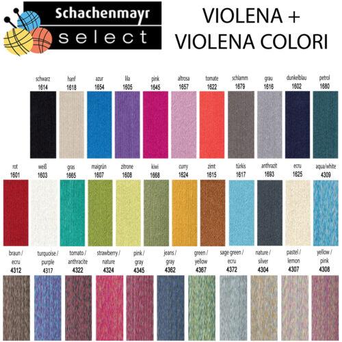 """violena colori/"""" 30 colores 5.80 €//100g Schachenmayr select /""""violena 50g"""