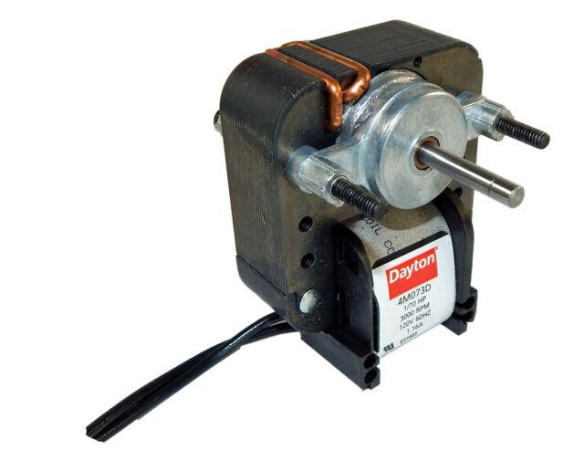 Dayton Electric C-frame Vent Fan Motor 1//70 HP 3000 RPM 115v Model 4M073 for sale online