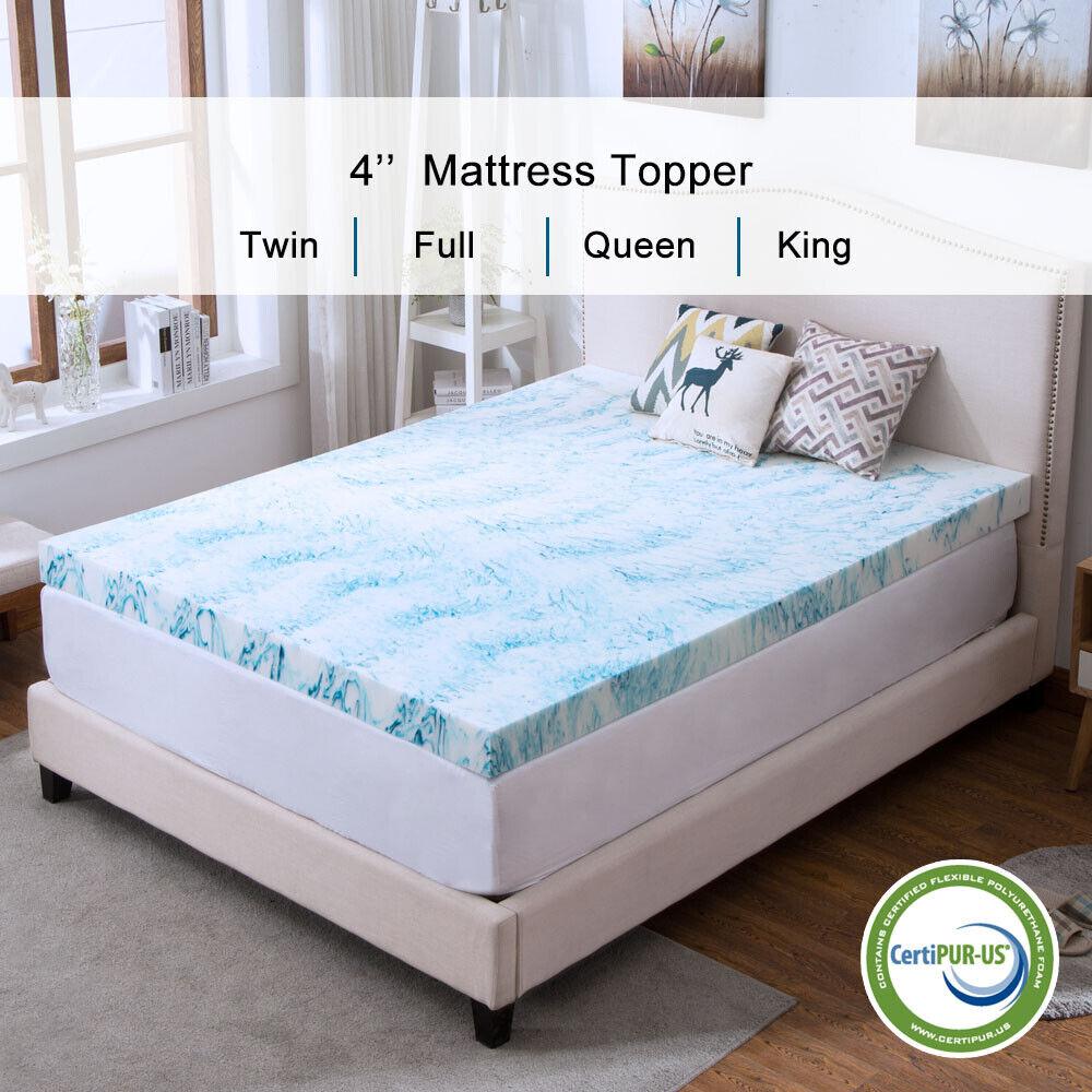 2 5 3 4 Inch Memory Foam Mattress Topper Lavender Gel Dot Queen