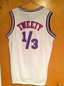 8d325ab37a8c Tweety Bird  1 3 Space Jam Tune Squad Basketball Jersey S M L XL XXL ...