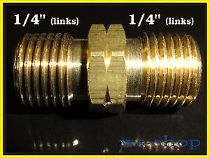 PN 16 Doppio Capezzolo con filettatura destra//filettatura sinistra linksgew. connettore aria