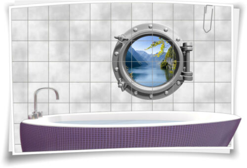 Tile Stickers Tile Picture Tile Porthole Water Lake Mountains Sticker Bathroom