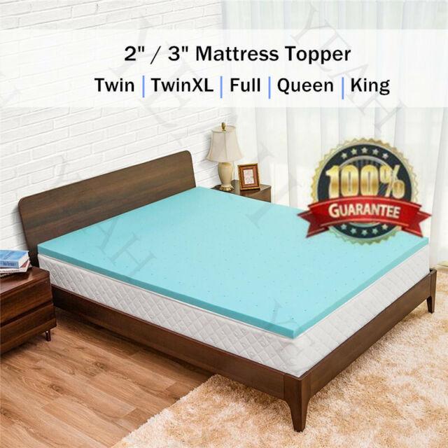 Twin XL 3 inch Thick Accu-Zone 2.3 Memory Foam Mattress Topper-Made in the USA